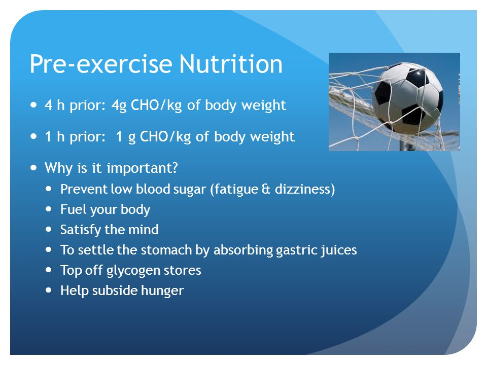 Pre-exercise Nutrition