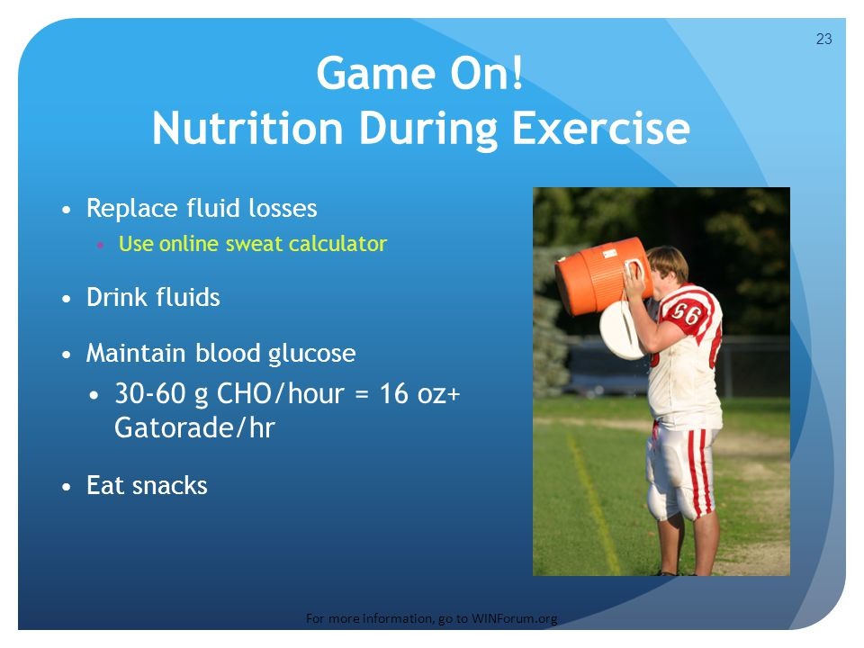 Game On! Nutrition During Exercise