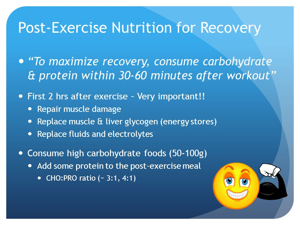 Post-Exercise Nutrition for Recovery