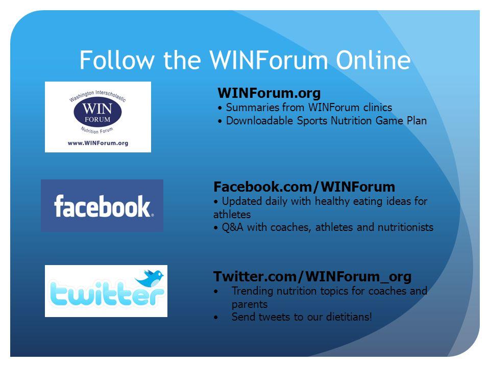 Follow the WINForum Online