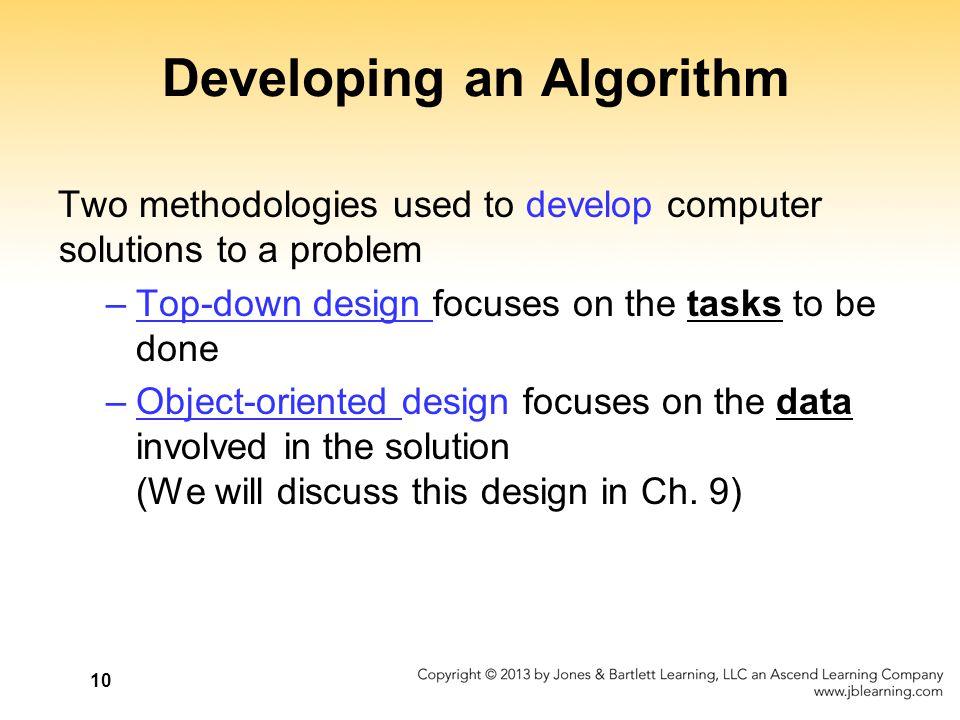 Developing an Algorithm