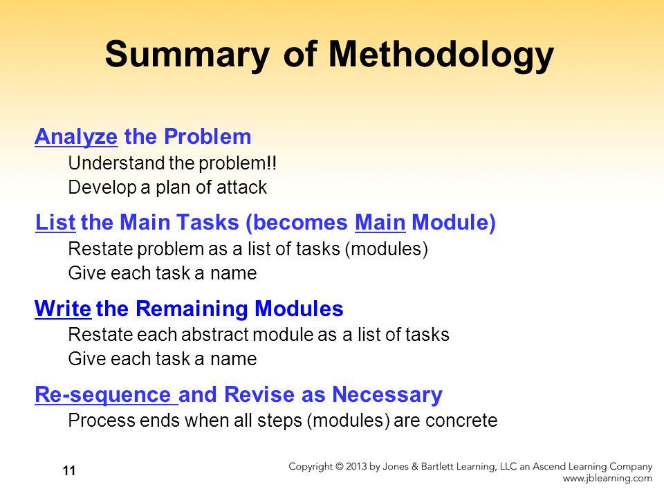 Summary of Methodology