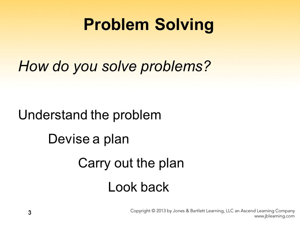 Problem Solving How do you solve problems Understand the problem