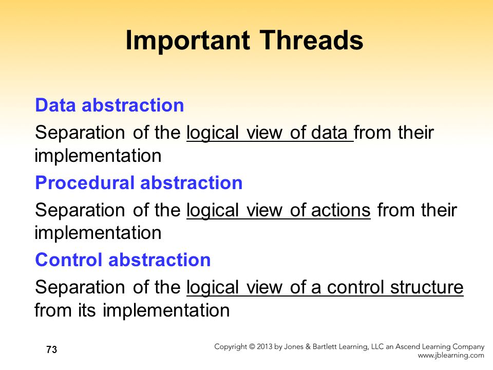 Important Threads Data abstraction