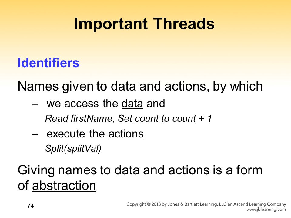Important Threads Identifiers