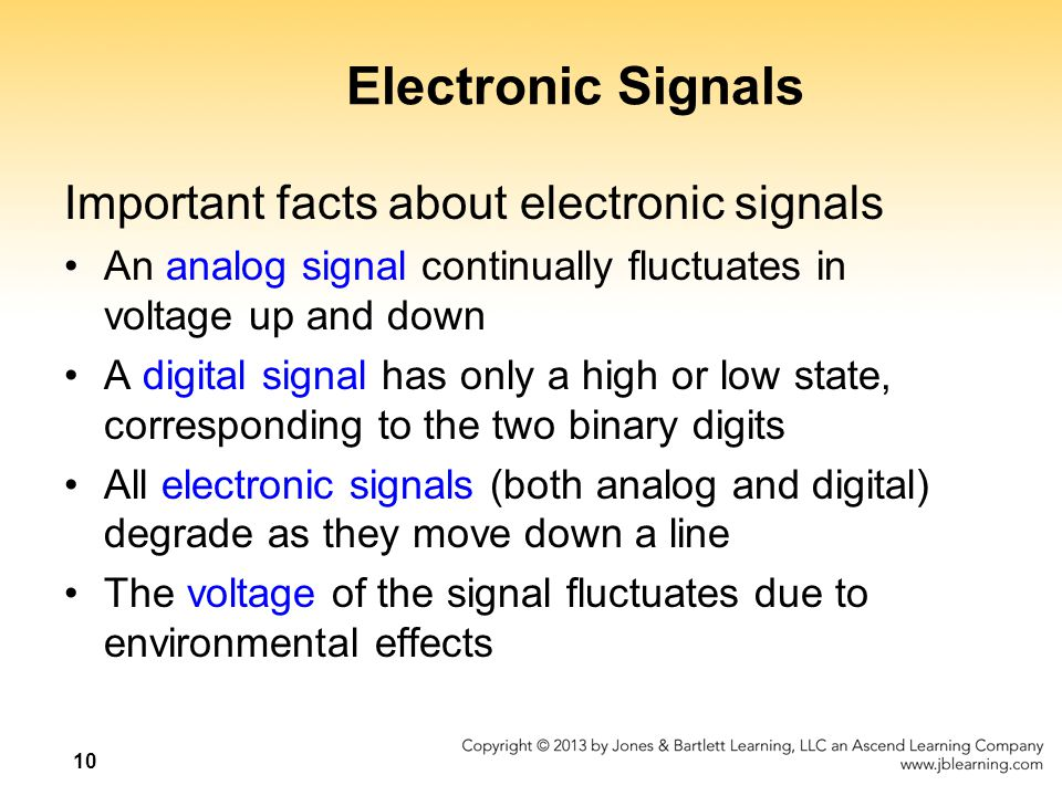 Electronic Signals Important facts about electronic signals
