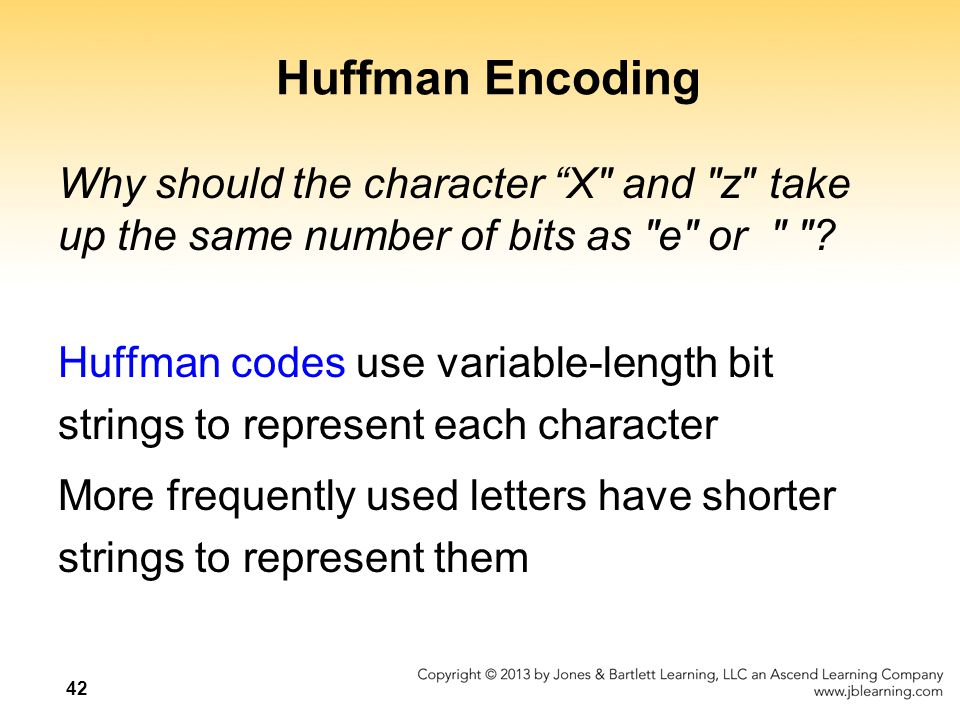 Huffman Encoding Why should the character X and z take up the same number of bits as e or