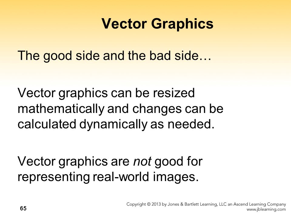 Vector Graphics The good side and the bad side…