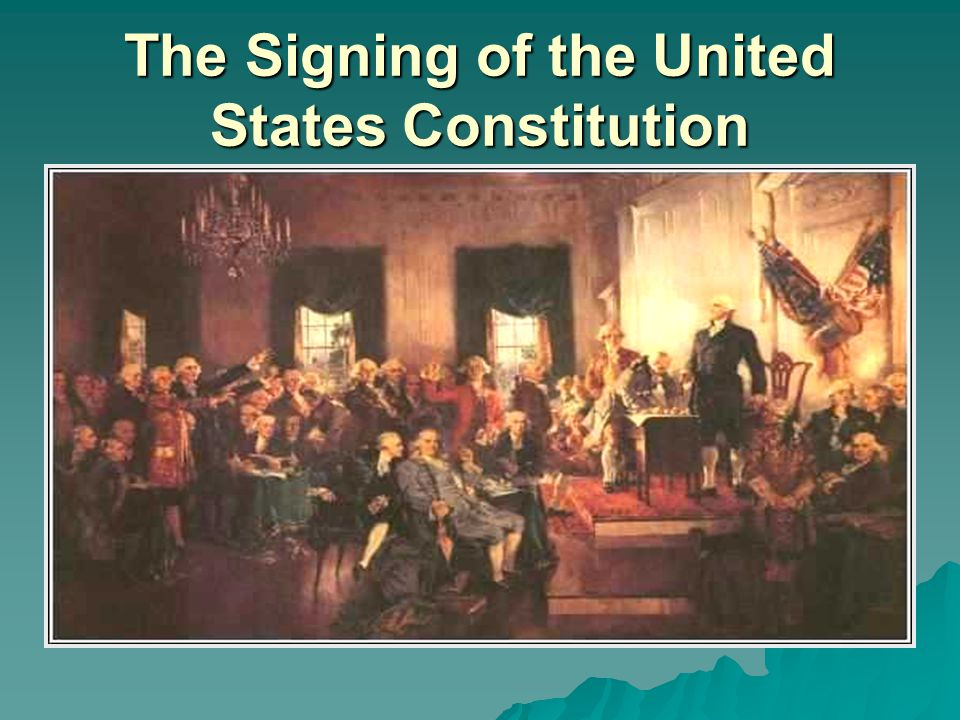 The Signing of the United States Constitution