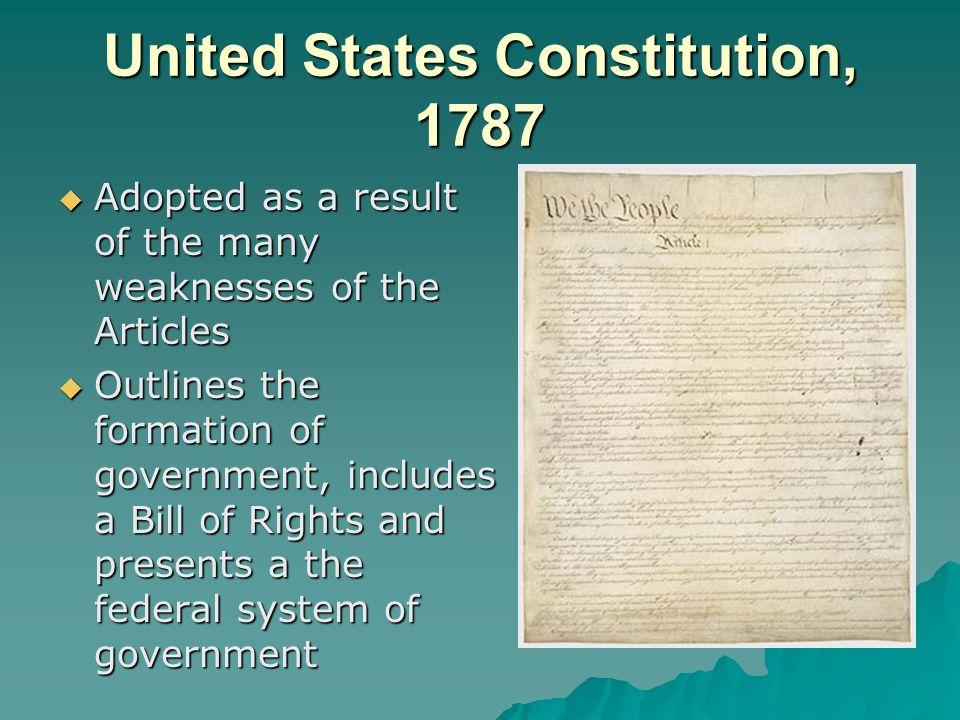 United States Constitution, 1787