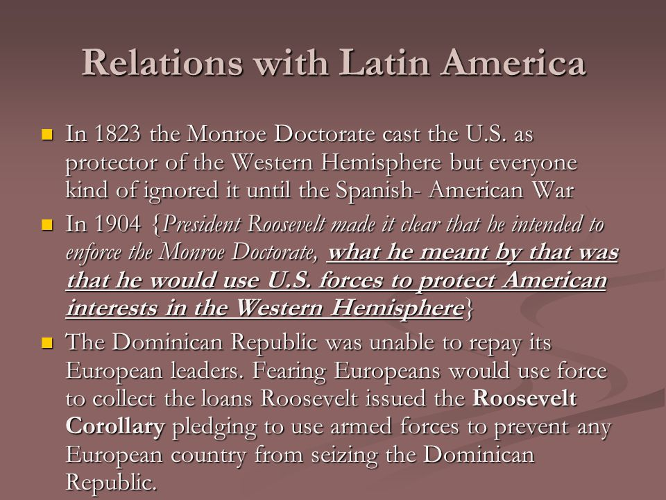 Relations with Latin America