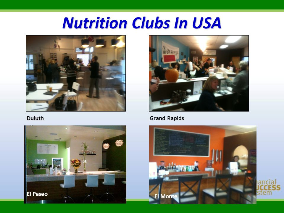 Nutrition Clubs In USA Duluth Grand Rapids El Paseo El Monte