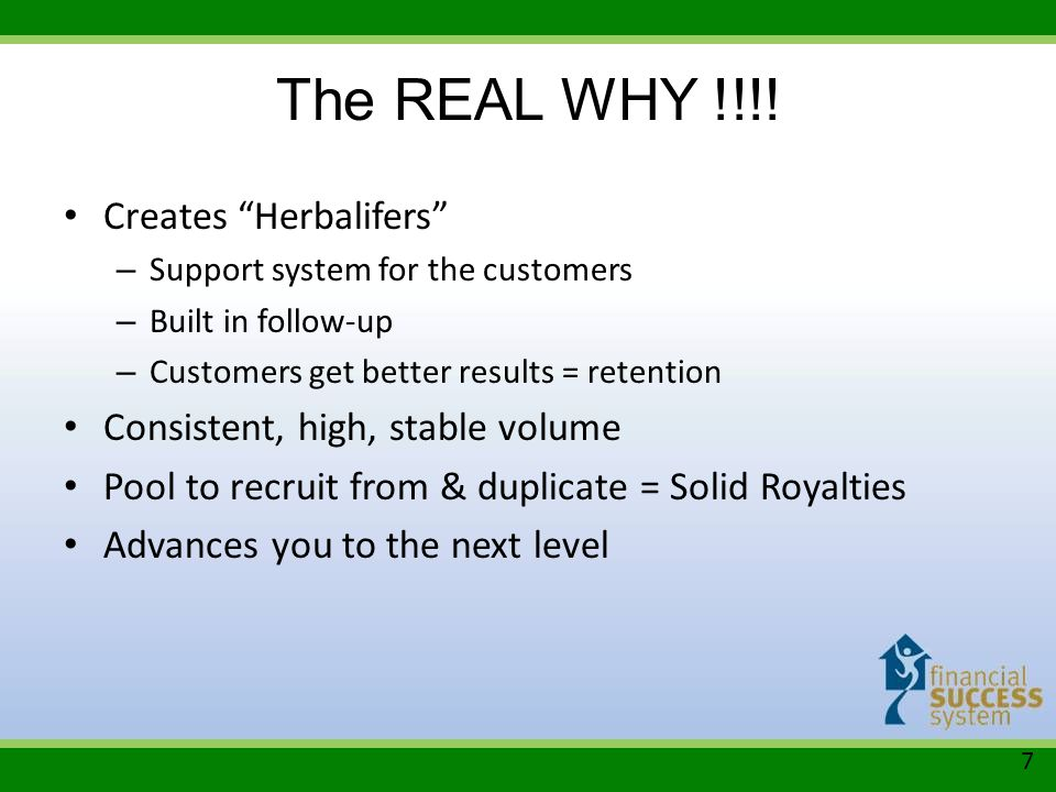 The REAL WHY !!!! Creates Herbalifers