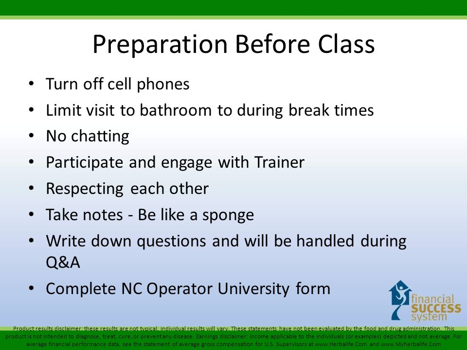 Preparation Before Class