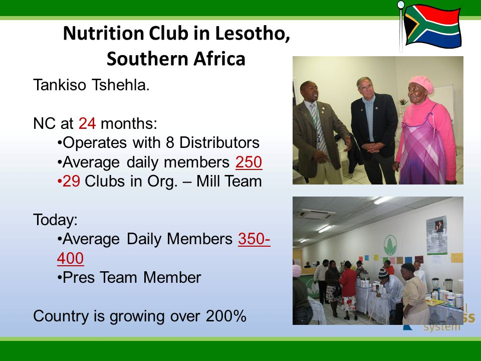 Nutrition Club in Lesotho, Southern Africa