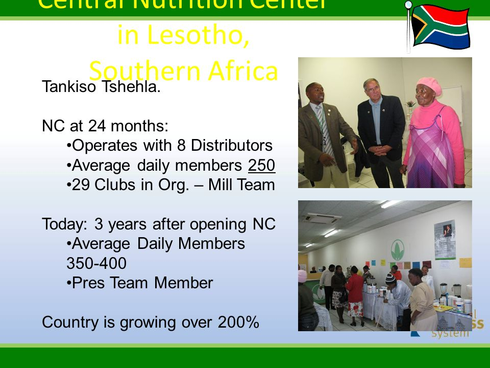 Central Nutrition Center in Lesotho, Southern Africa