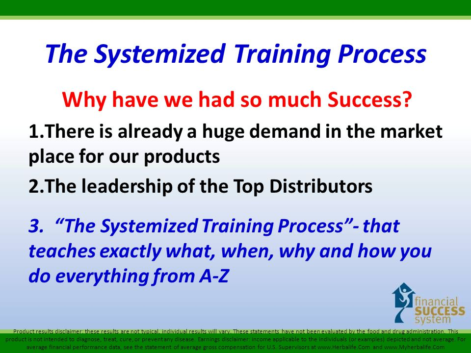 The Systemized Training Process