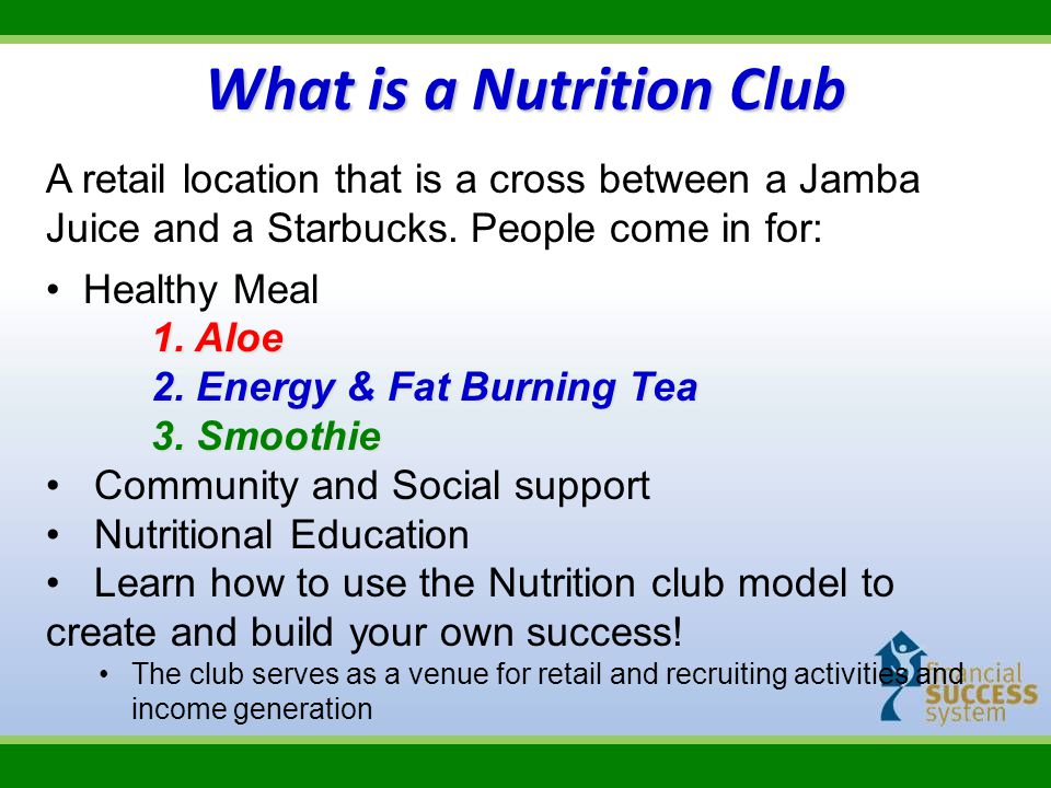 What is a Nutrition Club