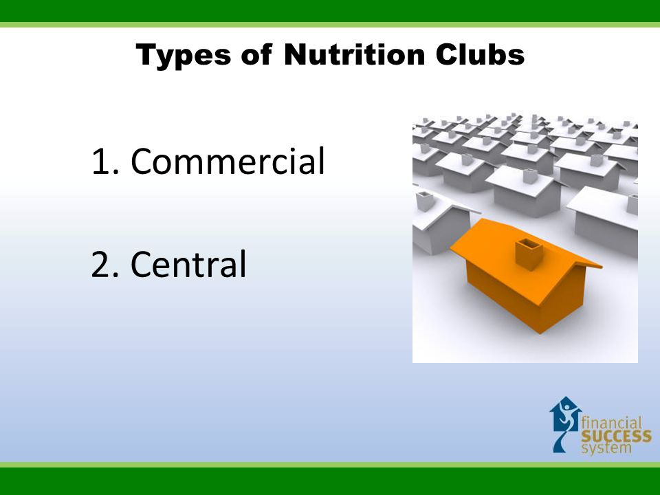 Types of Nutrition Clubs