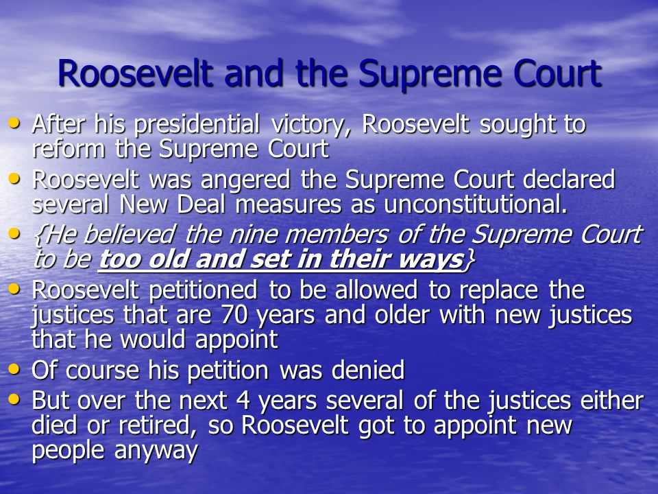 Roosevelt and the Supreme Court