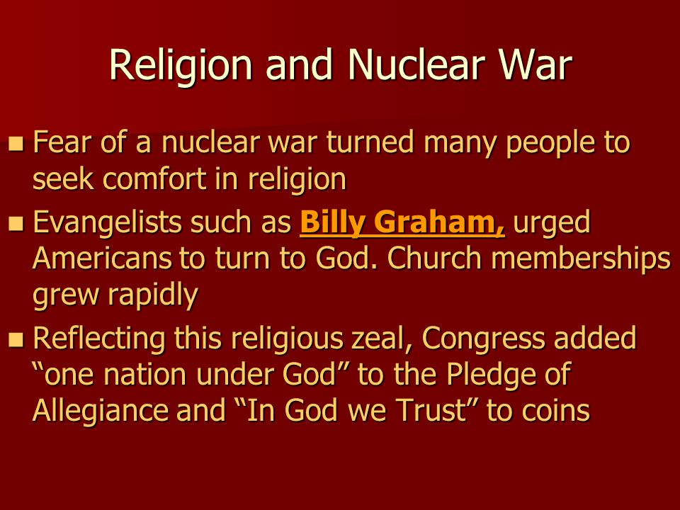 Religion and Nuclear War