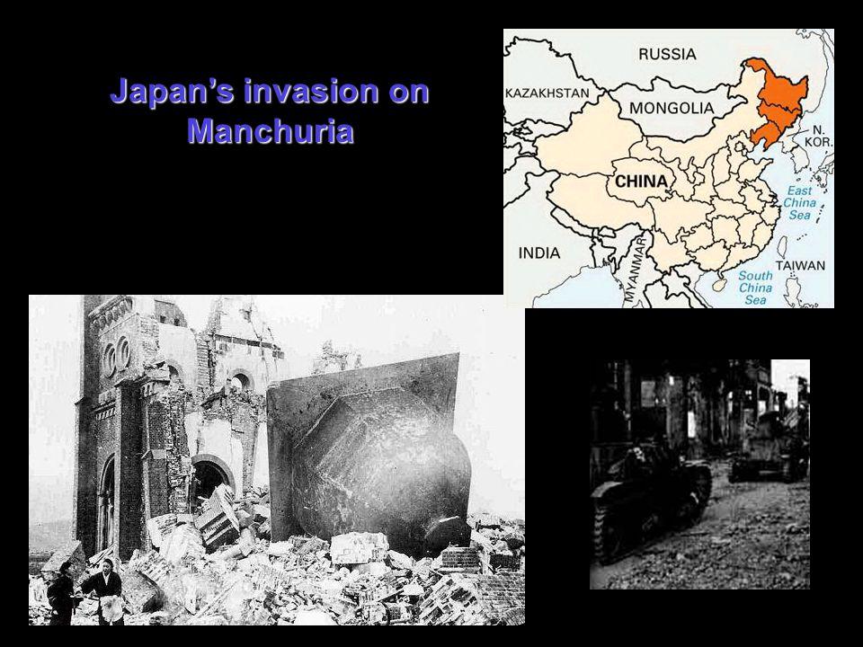 Japan's invasion on Manchuria
