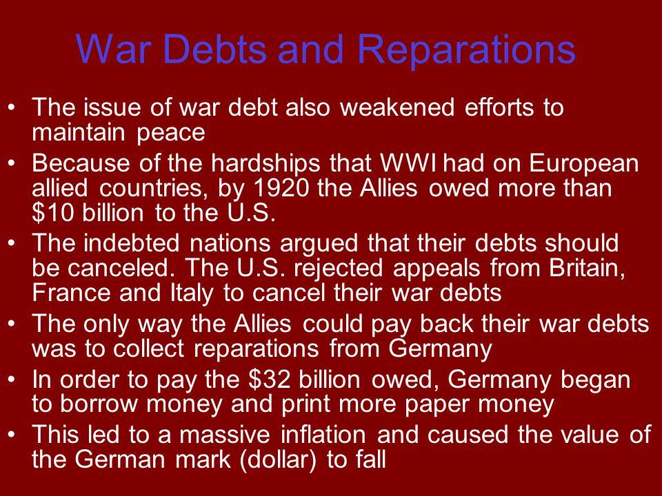 War Debts and Reparations