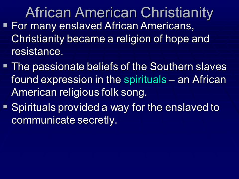 African American Christianity