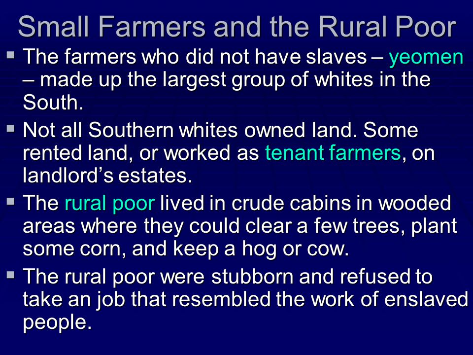 Small Farmers and the Rural Poor