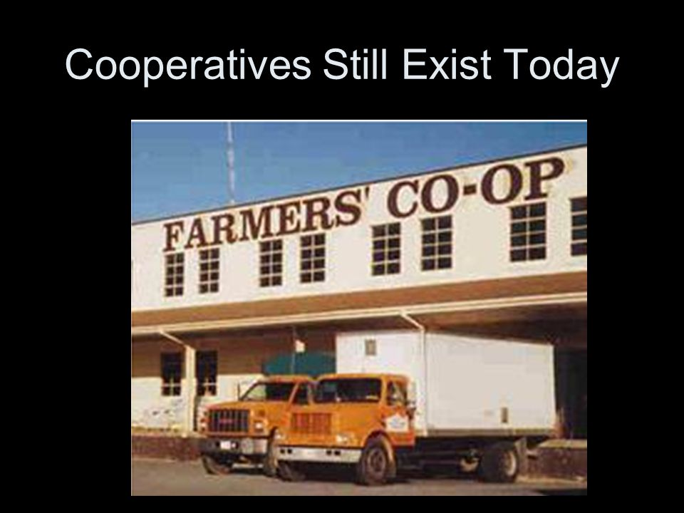 Cooperatives Still Exist Today