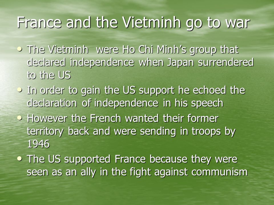 France and the Vietminh go to war