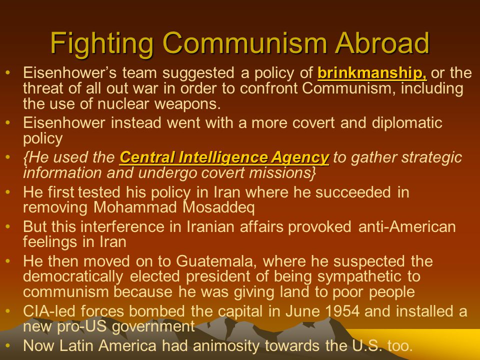 Fighting Communism Abroad