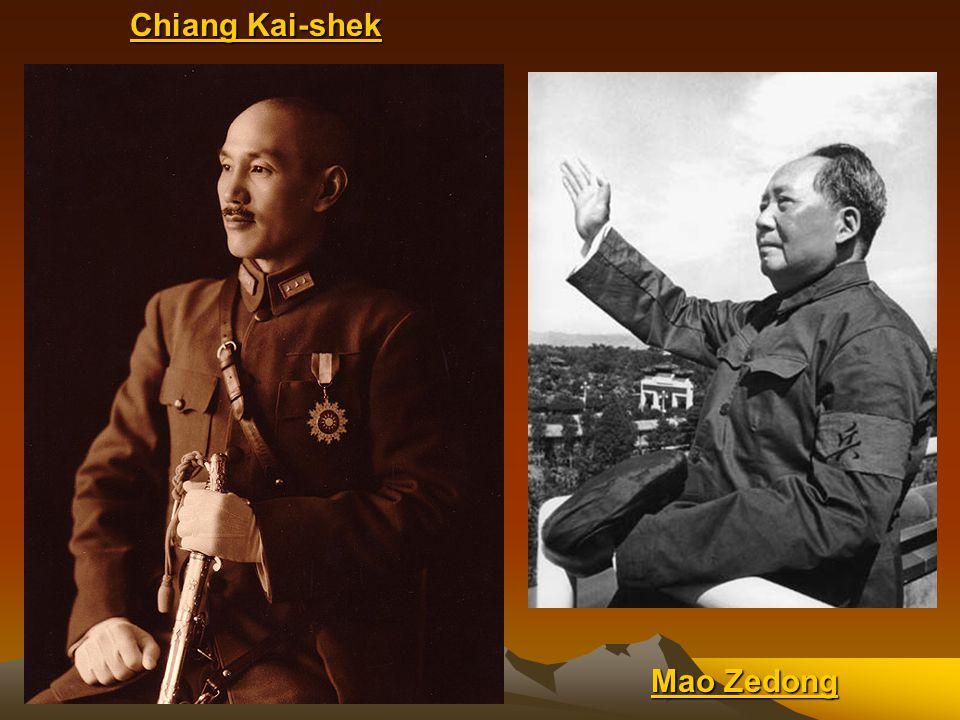 Chiang Kai-shek Mao Zedong