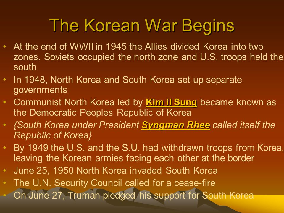 The Korean War Begins