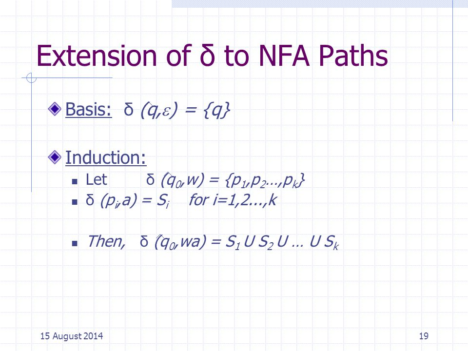 Extension of δ to NFA Paths