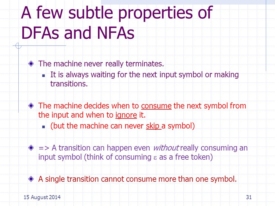 A few subtle properties of DFAs and NFAs
