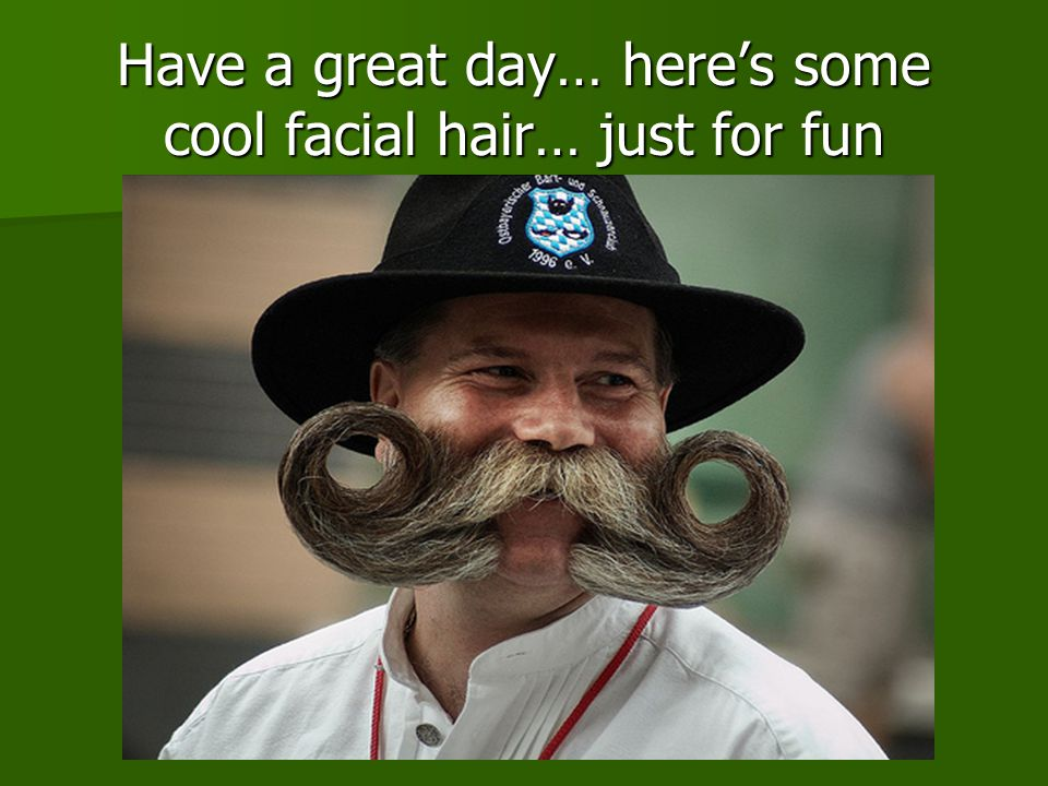 Have a great day… here's some cool facial hair… just for fun