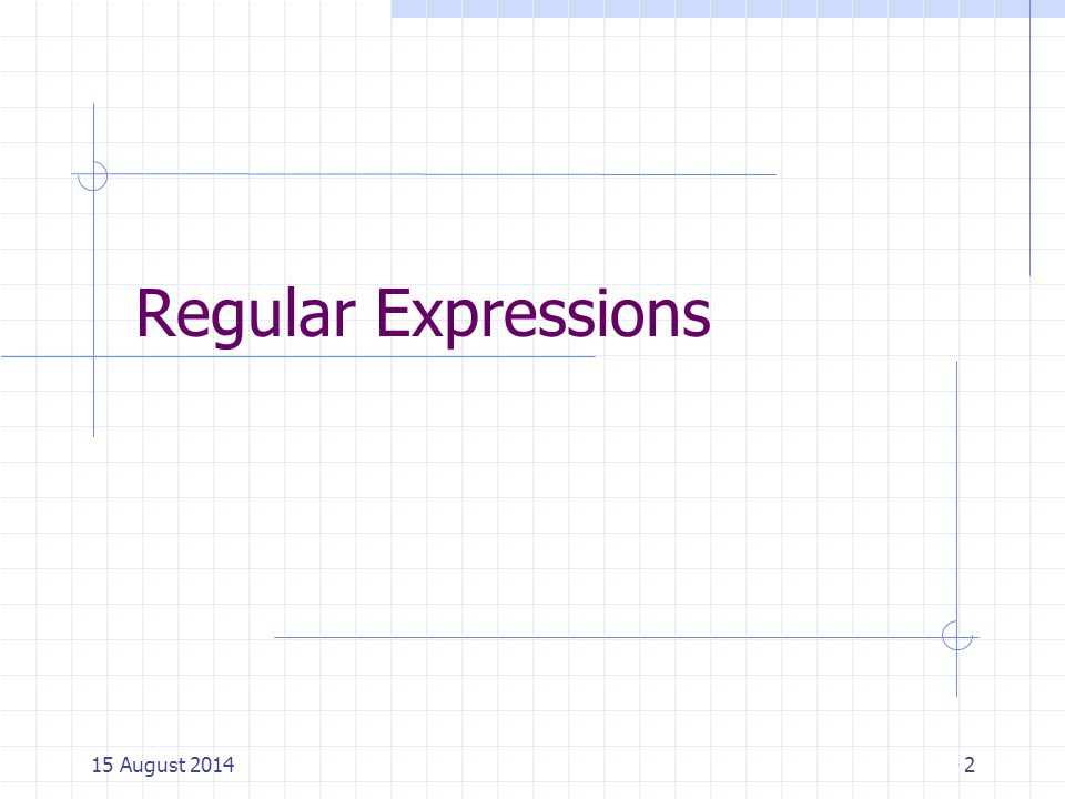 Regular Expressions 5 April 2017 Cpt S 317: Spring 2009