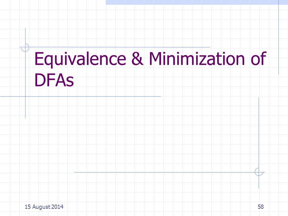 Equivalence & Minimization of DFAs