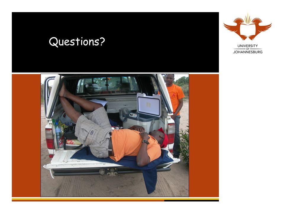 Questions jamesrobinson77@gmail.com 011 559 1901