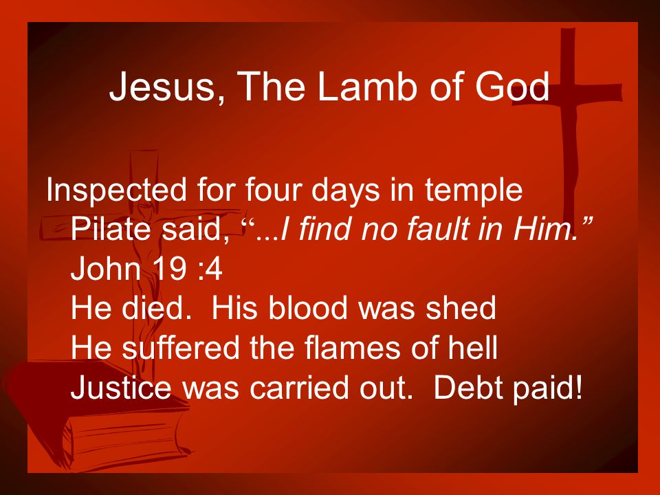 Jesus, The Lamb of God