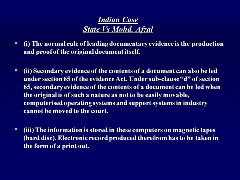 Indian Case State Vs Mohd. Afzal