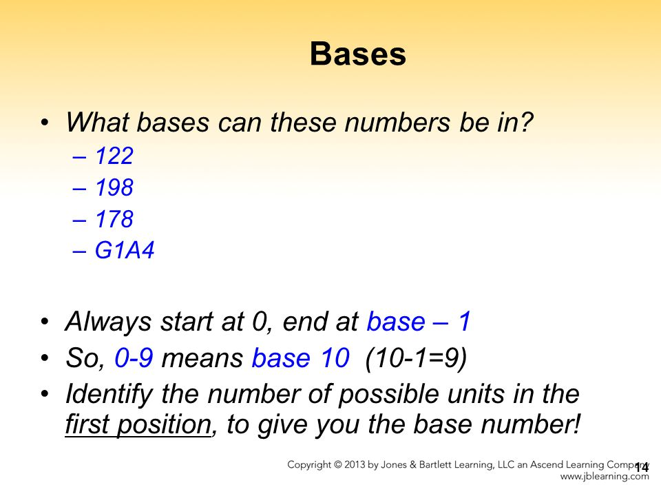 Bases What bases can these numbers be in