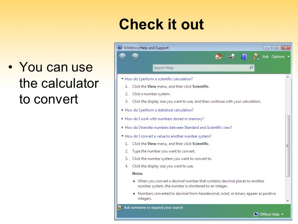 Check it out You can use the calculator to convert