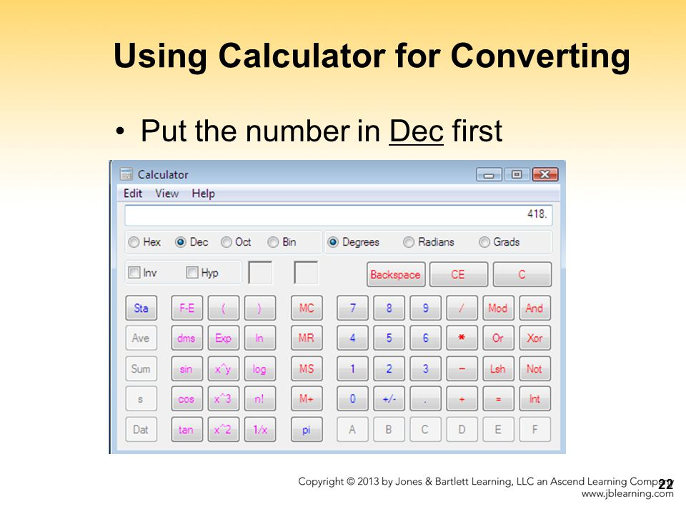 Using Calculator for Converting