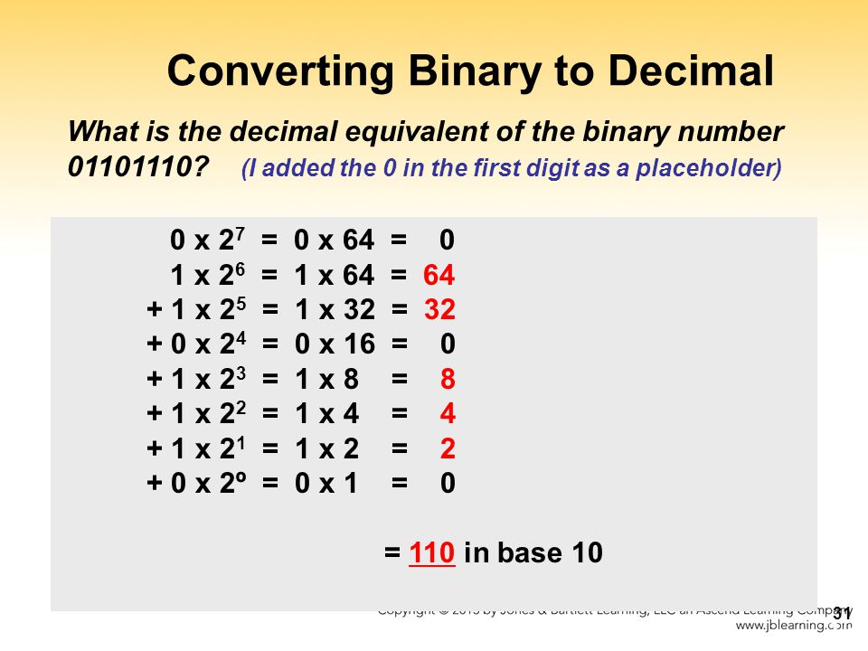 decimal 10 as binary options