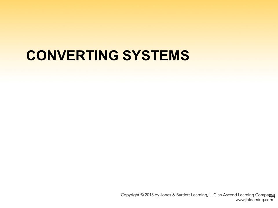 CONVERTING SYSTEMS