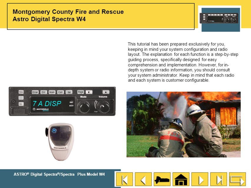 Montgomery County Fire and Rescue Astro Digital Spectra W4