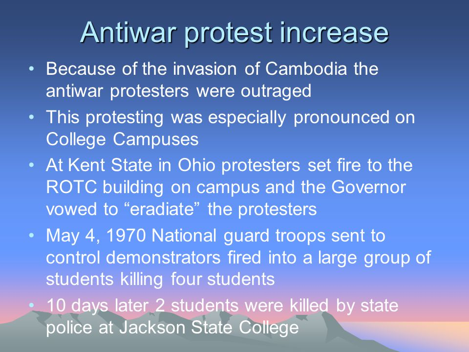 Antiwar protest increase