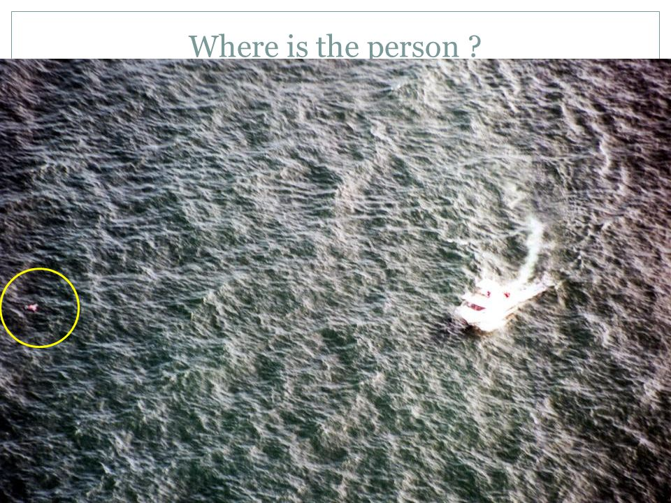 Where is the person